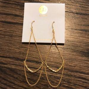 Gorjana Amanda drop pierced earrings